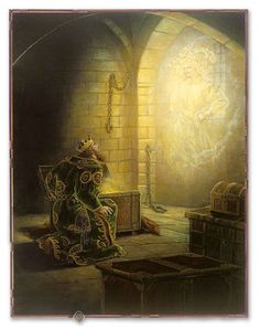 King Midas and the Golden Touch illustrated by Kinuko Y. Illustrations, Illustration Art, King Midas, Fantasy Authors, Fairytale Art, Art Institute Of Chicago, American Artists, Alter, Cover Art