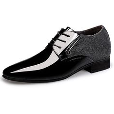 630c5cb5f4d TopoutShoes - Glossy patent leather elevator wedding shoes increase height  6cm   2.4inch tuxedo shoes