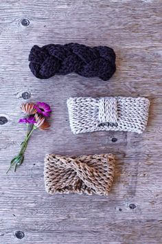 URBAN HEADBAND oatmeal chunky crochet headband earwarmer by kove