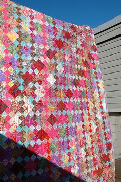 What a terrific scrap 4 patch quilt! I love seeing scraps that are 'controlled' to make real beauty!  diagon alley | Flickr - Photo Sharing!