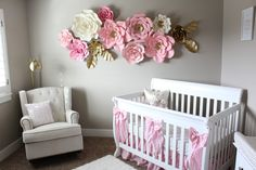 12 pc Paper Flowers, Nursery, Nursery Room, Customize your colors! by ShopOliposa on Etsy https://www.etsy.com/listing/511031059/12-pc-paper-flowers-nursery-nursery-room