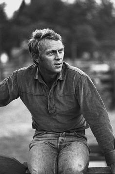 Steve McQueen during the making of Nevada Smith
