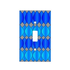 blue curtain light switch cover.