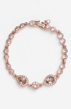 The most delicate of bracelets in rose gold and Swarovski crystals.