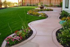 garden built into path
