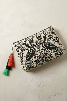 Anthropologie EU Twin Peacock Purse. I should definitely make one of these for myself ♥