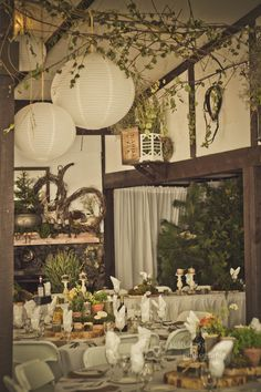 This is a view looking towards the head table - we wanted to keep the hall looking rustic but elegant.