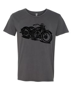 Mens Vintage INDIAN MOTORCYCLE Biker Cotton Retro crew neck Tshirt Tee Shirt Short sleeve s, m, l, Alternative Apparel Image is hand printed using