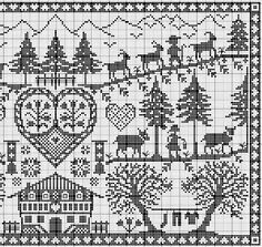 Cross stitch right Cross Stitch Sampler Patterns, Cross Stitch Freebies, Cross Stitch Samplers, Cross Stitch Designs, Cross Stitching, Cross Stitch Embroidery, Embroidery Patterns, Just Cross Stitch, Cross Stitch Animals