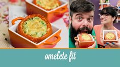 Omelete Fit (feito no tomate, receita de forno) | Cozinha para 2
