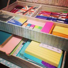 Craft Room Secrets: Filofax supplies storage box