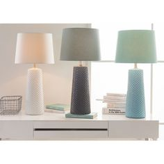 Contemporary Hayle Table Lamp with Glazed Ceramic Base | Overstock.com Shopping - The Best Deals on Table Lamps