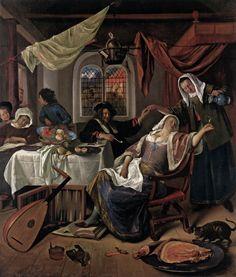 Jan Steen - Het losbandige huishouden