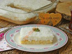 Gelin Tatlısı Easy Cake Recipes, Dessert Recipes, Desserts, Armenian Recipes, Salty Foods, Pita Bread, Turkish Delight, Sweet And Salty, Tray Bakes