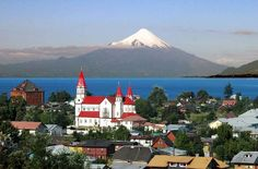 Puerto Varas is a city located in southern Chile a territory of northern Patagonia in the Los Lagos Region. Places To Travel, Places To Go, In Patagonia, Monuments, South America Travel, Beautiful Places To Visit, Wonderful Places, Lake District, Vacation Spots