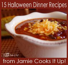 Halloween Dinner Ideas from Jamie Cooks It Up!