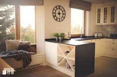 Gdynia Wzgórze Bernadowo - Średnia otwarta kuchnia w kształcie litery u w kształcie litery g w aneksie z oknem - zdjęcie od Meblościanka Studio