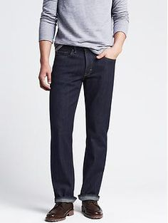 Straight-Fit Dark Wash Jean - A dark wash is the style you want for a casual day at the office or date night. Its the most versatile of washes, looking polished when paired with a chino blazer and loafers or a chambray shirt and new sneakers. The straight silhouette ensures an effortless, put-together appearance.