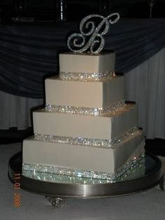 My dream cake, who knows what letter will be on top though! #beautiful #fab