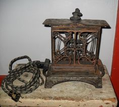 Antique Star Electric Toaster Swing Out Sides Cord Restore or Repurpose 1920s #FitzgeraldMfgCo