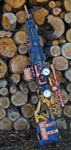 70 Epic Steampunk Art - Ideas of Nerf Gun - Steampunk-nerf-longshot-sniper-rifle-gun-art Steampunk Weapons, Steampunk Gadgets, Steampunk Cosplay, Steampunk Witch, Steampunk Design, Steampunk Fashion, Steampunk Clothing, Gothic Fashion, Nerf Rifle