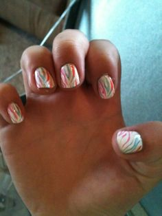 Zebra...did this with OPI brights collections :)
