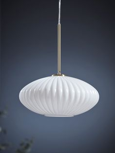NEW Fluted Milky Glass Pendant - Oval Glass Pendant Light, Glass Pendants, Pendant Lighting, Ceiling Rose, Ceiling Lights, Flute, Diffuser, Mirror, Downstairs Loo