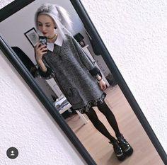 Knit sweater and dress combo