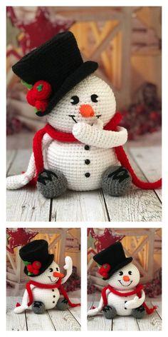 23 Clever DIY Christmas Decoration Ideas By Crafty Panda Crochet Snowman, Crochet Ornaments, Crochet Snowflakes, Crochet Amigurumi Free Patterns, Crochet Dolls, Free Christmas Crochet Patterns, Afghan Crochet, Crochet Angels, Crochet Gratis