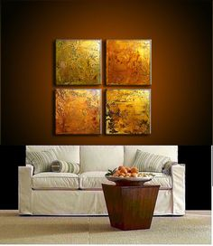 Huge Original Abstract Painting Textured  by newwaveartgallery, $675.00