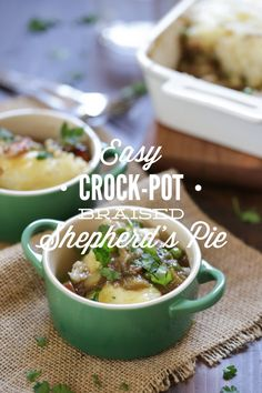 Super simple homemade (real food style) crock-pot shepherd's pie made in the crock-pot. This recipe uses the crock-pot to braise the beef in beer (or beef broth). Zero processed food ingredients. Healthy, real food crock-pot shepherd's pie you can make even on a busy weekday!