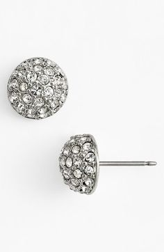 crystal button stud earrings / givenchy