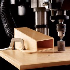 Drill-Press Dust Collector Woodworking Plan from WOOD Magazine