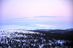 Blue hills. Iisakkipää, Saariselkä, Finland.  Cabins and activities in Saariselkä http://www.saariselka.com