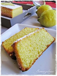 Corn cake and lemon {gluten free, milk-free, lactose} Gluten Free Sweets, Gluten Free Baking, Vegan Gluten Free, Gluten Free Recipes, Vegan Recipes, Sans Gluten Sans Lactose, Lactose Free, My Recipes, Sweet Recipes