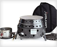 Collapsible Cook Stove - fits in a bag and cooks food in #outdoor. Allows #cooking with charcoal, propane or even wood