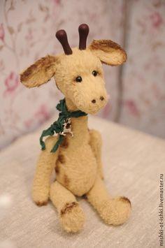 жираф Олли - бежевый,жираф,жирафик,игрушка ручной работы,авторская ручная работа