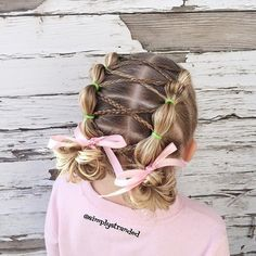 """Bubble ponies with cross cross braids."