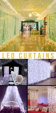 led wedding curtains | LED curtains bedroom | LED Curtains | LED curtains for decoration | #LED curtains | #curtains | #garlands | #cozyatmosphere Garlands, Cozy, Curtains, Led, Bedroom, Decoration, Wedding, Wreaths, Decorating