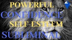 This powerful subliminal will build up your confidence with subliminal affirmations for self-esteem. Self-esteem is used to describe a person's sense of self. Self Esteem, Affirmations, Confidence, Positivity, Books, Youtube, Libros, Self Confidence, Book