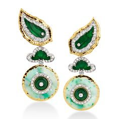 David Webb | Collections | ancient world | Jade Disk Earrings