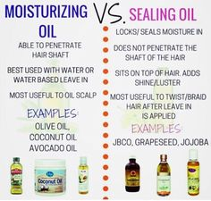 Moisturizing Oil Vs Sealing Oil is part of Natural hair care - It is crucial to your hair regimen that you are able to differentiate a moisturizing oil vs sealing oil so you know when to use which ones Natural Hair Regimen, Natural Hair Care Tips, Natural Hair Growth, Natural Hair Journey, Relaxed Hair Regimen, Relaxed Hair Growth, Natural Haircare, Natural Oils For Hair, Long Relaxed Hair