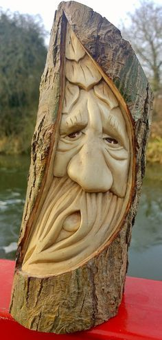 Jed treespirit a unique greenman woodspirit carving