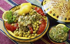 Try this hake tagine with chermoula from Hugo Arnold on the site now Moroccan Salad, Moroccan Dishes, Seafood Recipes, Fish Recipes, Casserole Recipes, Meal Planning, Healthy Recipes, Stuffed Peppers, Cooking