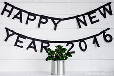 Letter Banner HAPPY NEW YEAR 2016