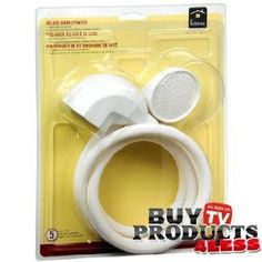 Homz Deluxe Bath Sprayer Adjustable Shower Head Adapts To Existing Shower Or Tub Portable Shower Head $9.99