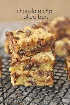 Carmel, toffee, chocolate chip bars