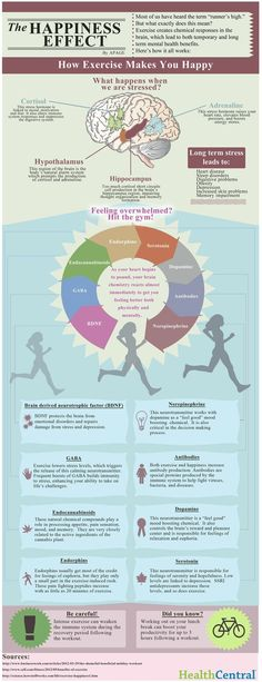 The Happiness Effect Infographic #running #exercise #health