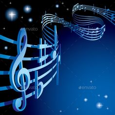 Buy Background on a Musical Theme by romay on GraphicRiver. Raster version of vector background on a musical theme Music Notes Art, Music Pics, Music Pictures, Music Videos, Music Drawings, Music Artwork, Art Music, Music Artists, Kinds Of Music