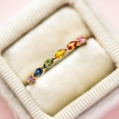 local eclectic | Rainbow Sun King Ring King Ring, Engagement Bands, Marquise Cut, O Ring, Jewelery, Sapphire, Fine Jewelry, Beaded Bracelets, Rainbow